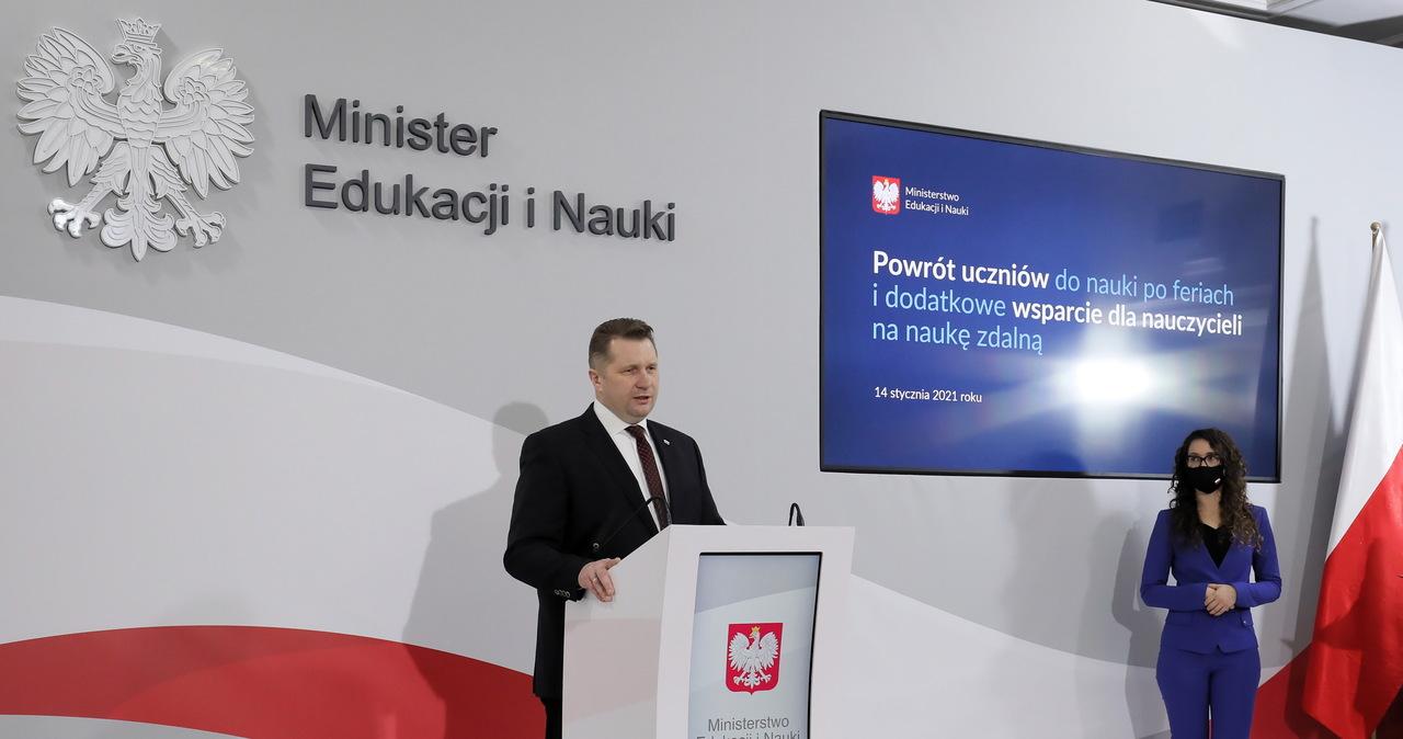 Przemysław Czarnek o powrocie dzieci do szkół: Obowiązek zapewnienia świetlic