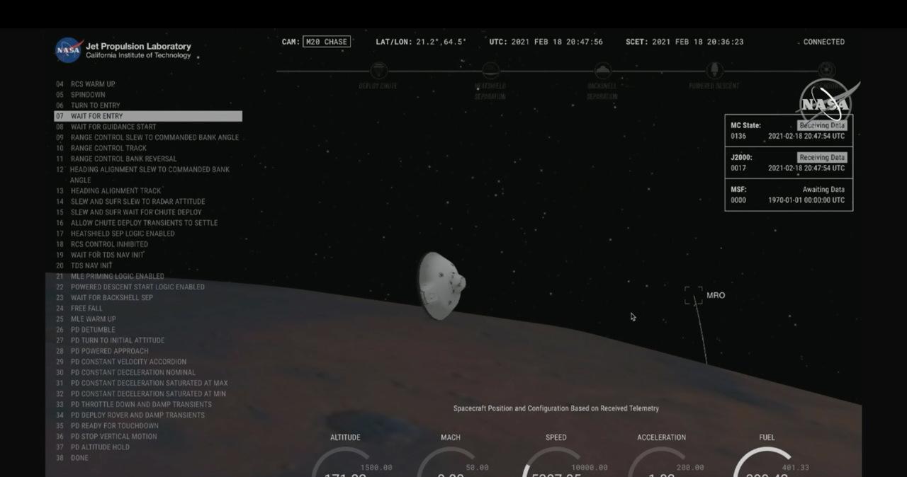 Historyczny moment! Łazik Perseverance wylądował na Marsie