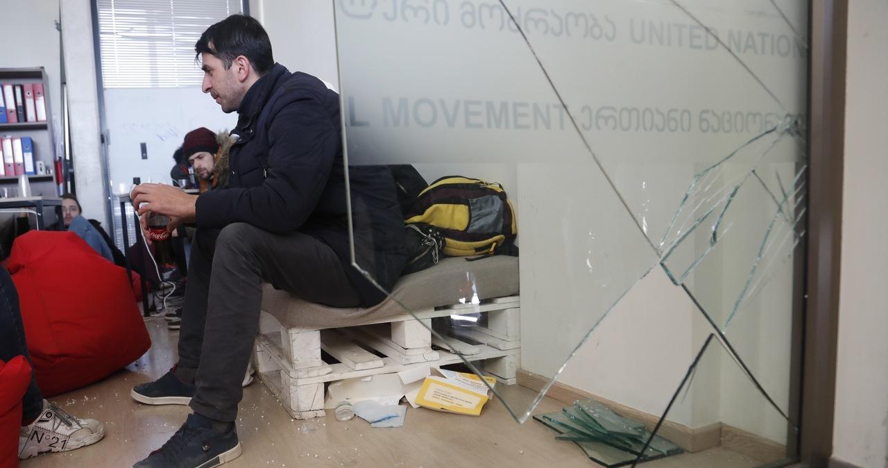 Lider gruzińskiej opozycji zatrzymany. Policja szturmowała siedzibę partii