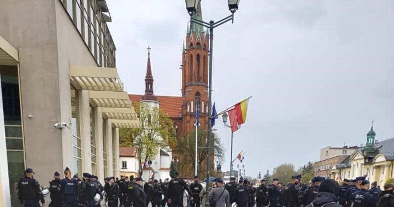 Rozwiązano marsz środowisk nacjonalistycznych w Białymstoku