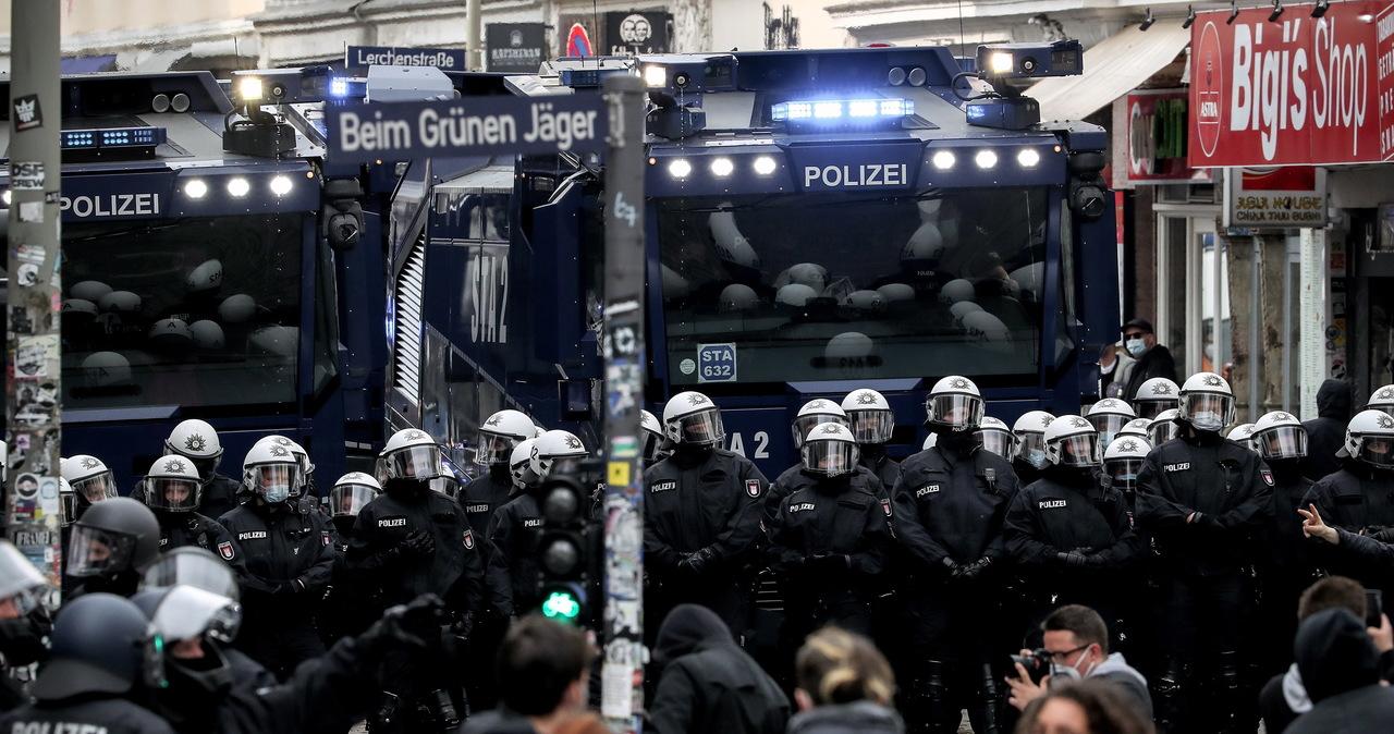 Demonstracja radykalnej lewicy w Berlinie. Ranni policjanci