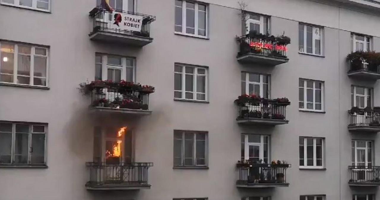 Pożar mieszkania podczas Marszu Niepodległości. Akt oskarżenia dla 37-latka