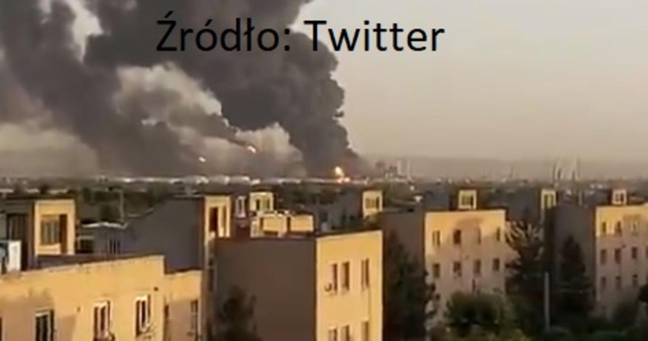Duży pożar rafinerii w Teheranie