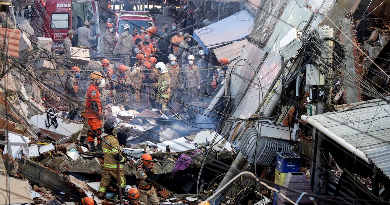 Katastrofa budowlana w Brazylii. Zginęły co najmniej dwie osoby