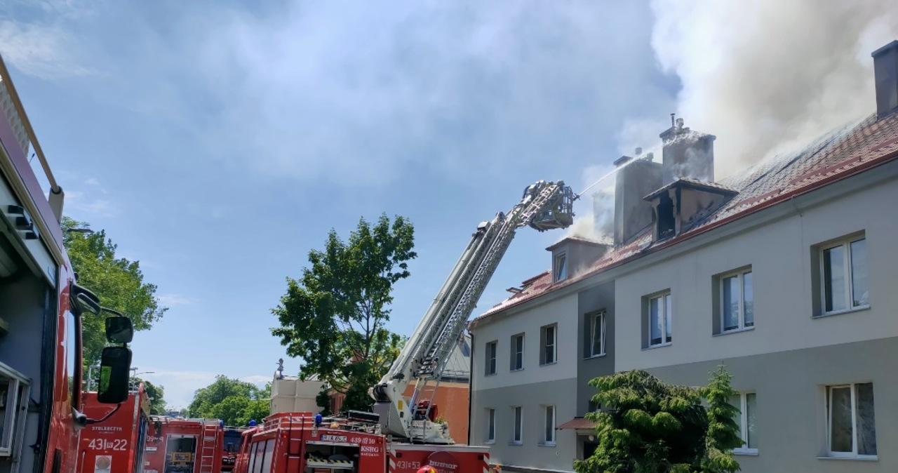 Podkarpacie: Pożar budynku w Radymnie