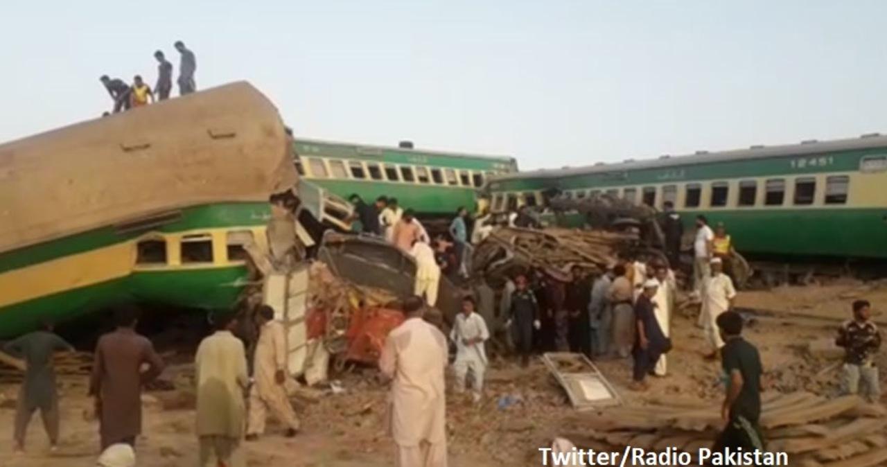 Katastrofa kolejowa w Pakistanie. Zginęło co najmniej 40 osób