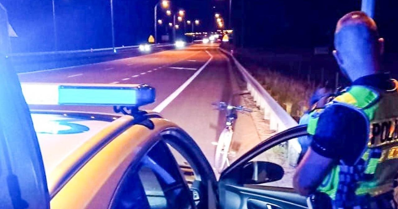 Pijany rowerzysta zatrzymany na drodze S3