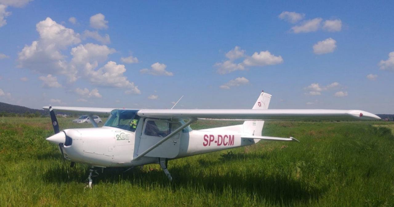 Awaryjne lądowanie Cessny