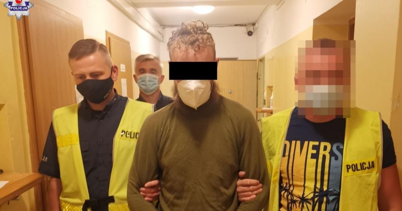 Atak nożownika w Lubartowie. 37-latek z zarzutami