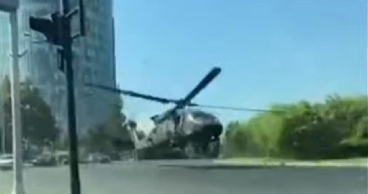 Black hawk lądował awaryjnie w centrum Bukaresztu [WIDEO]