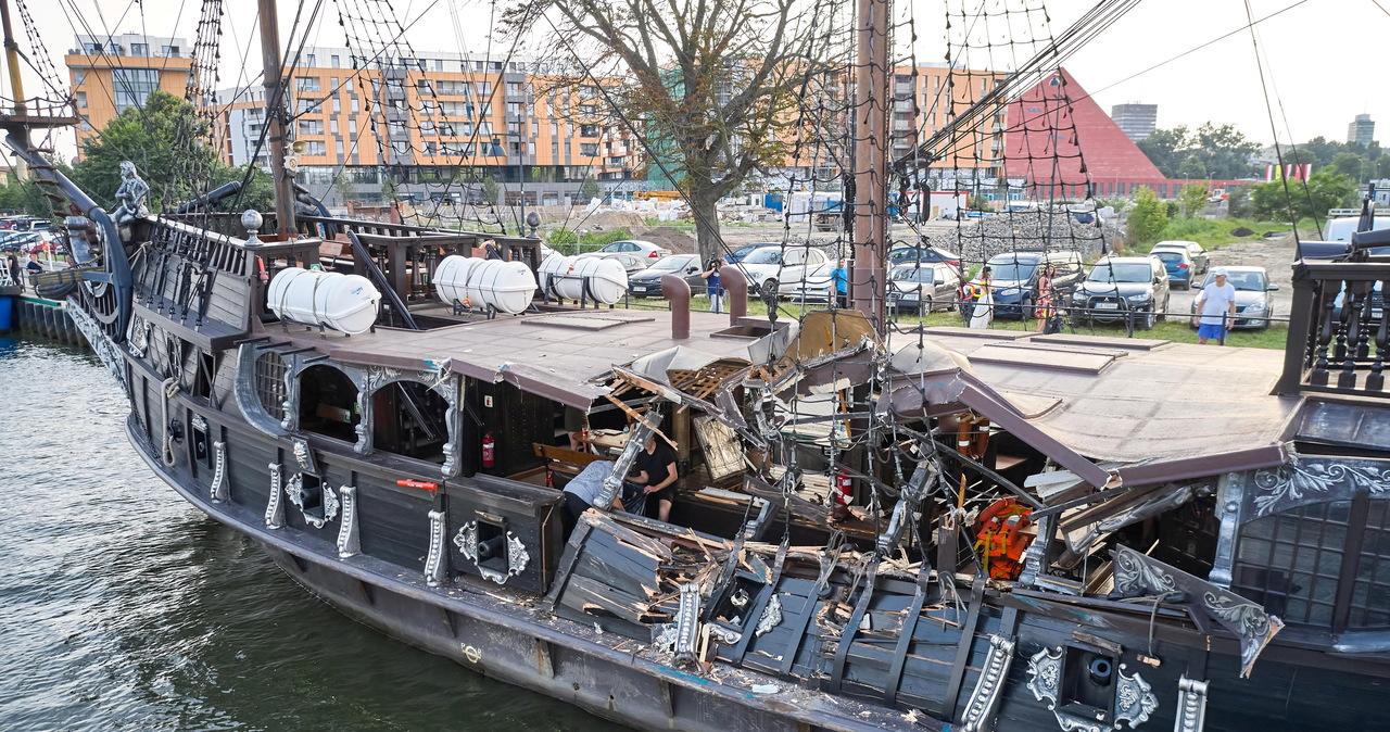 Kolizja statków na Motławie. Oświadczenie armatora Czarnej Perły