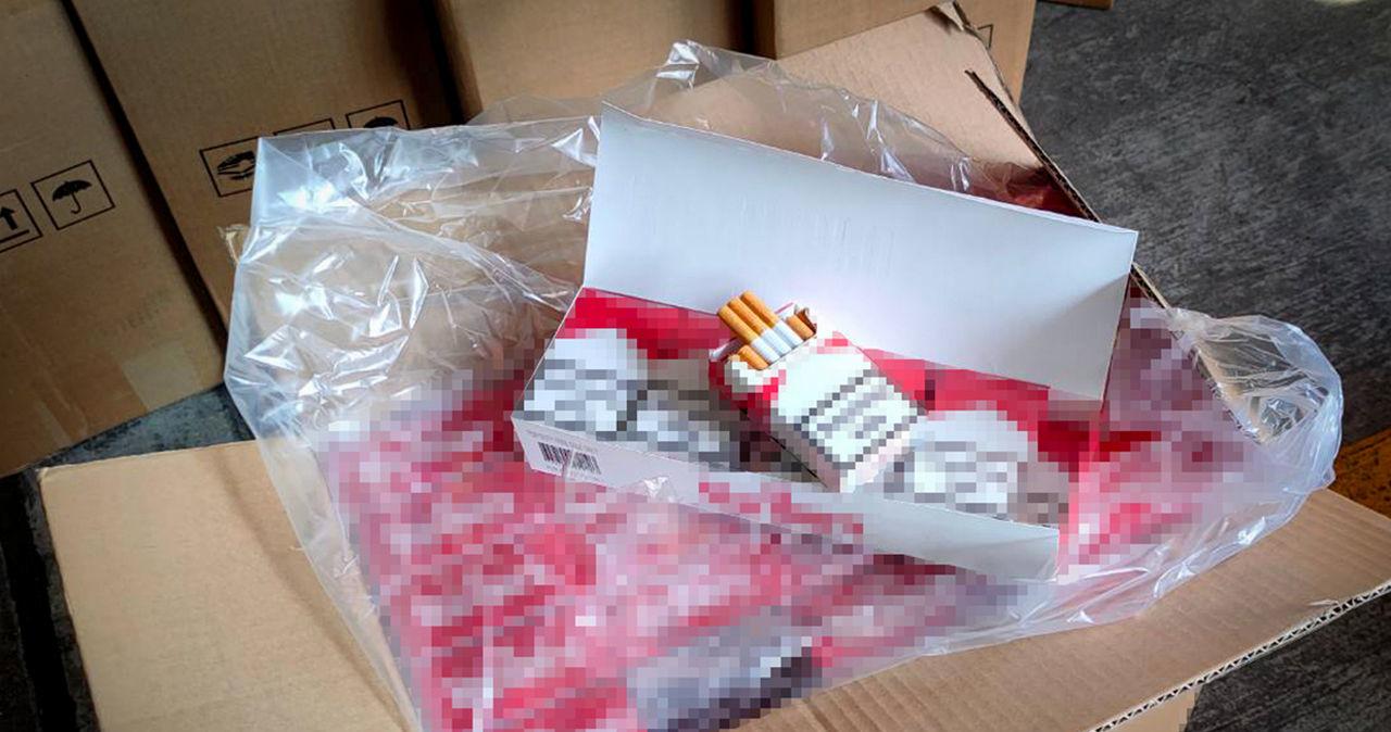 10 mln nielegalnych papierosów z Chin. Ukryte były w kontenerze z plecakami
