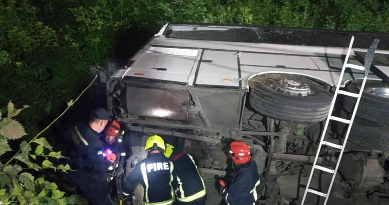 Wypadek autobusu jadącego z Kijowa do Wrocławia. 17 osób rannych