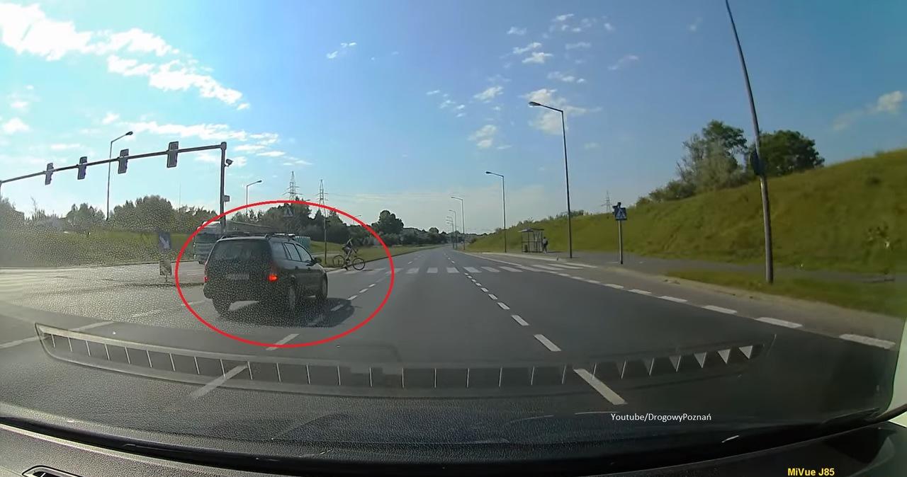 Poznań: O włos od tragedii. Kierowca wykazał się refleksem