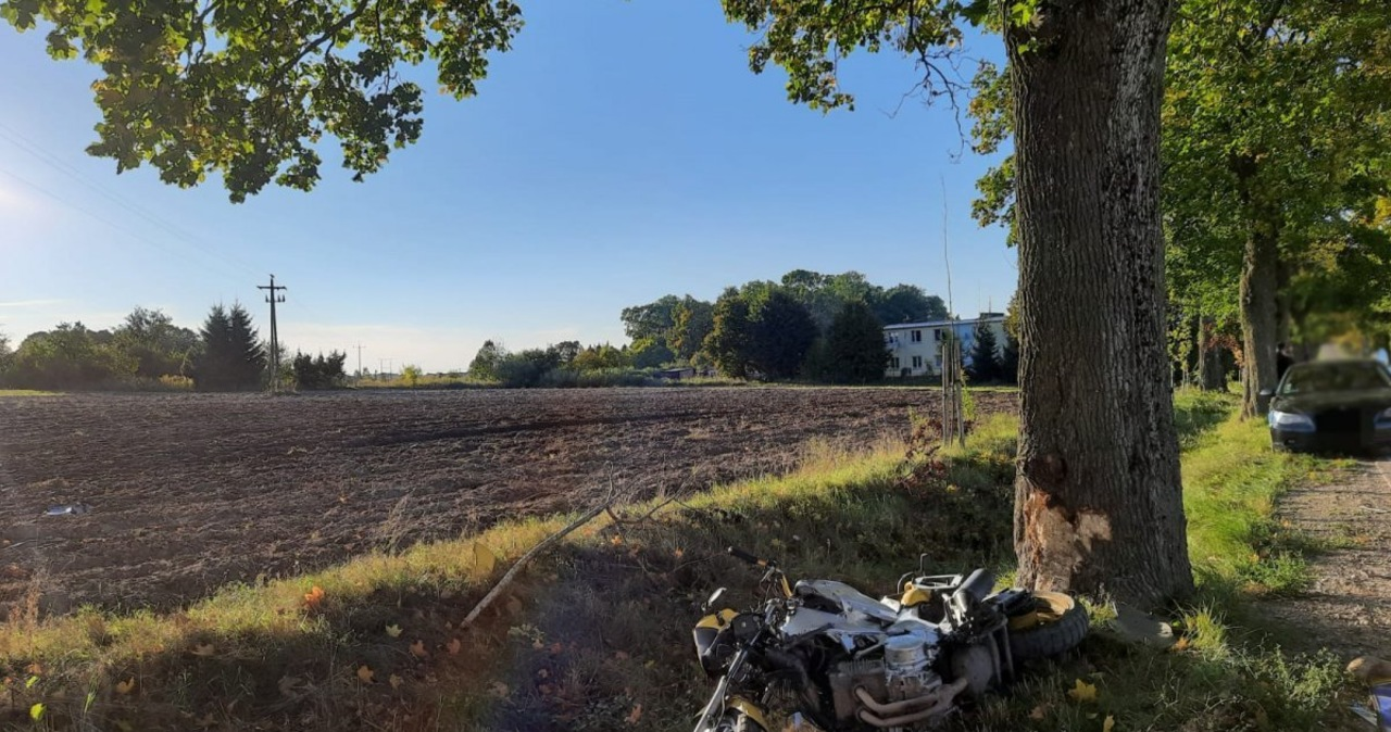 Tragedia pod Mrągowem. Nie żyje motocyklista