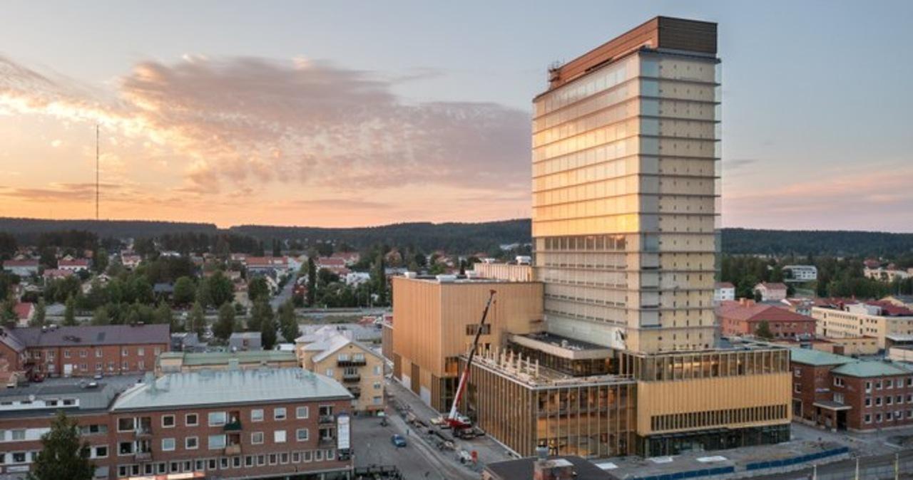 Drewniany wieżowiec w Szwecji. Ma 20 pięter