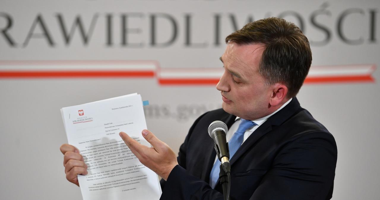 Ziobro komentuje wyrok TK. Napisał też list Tuska