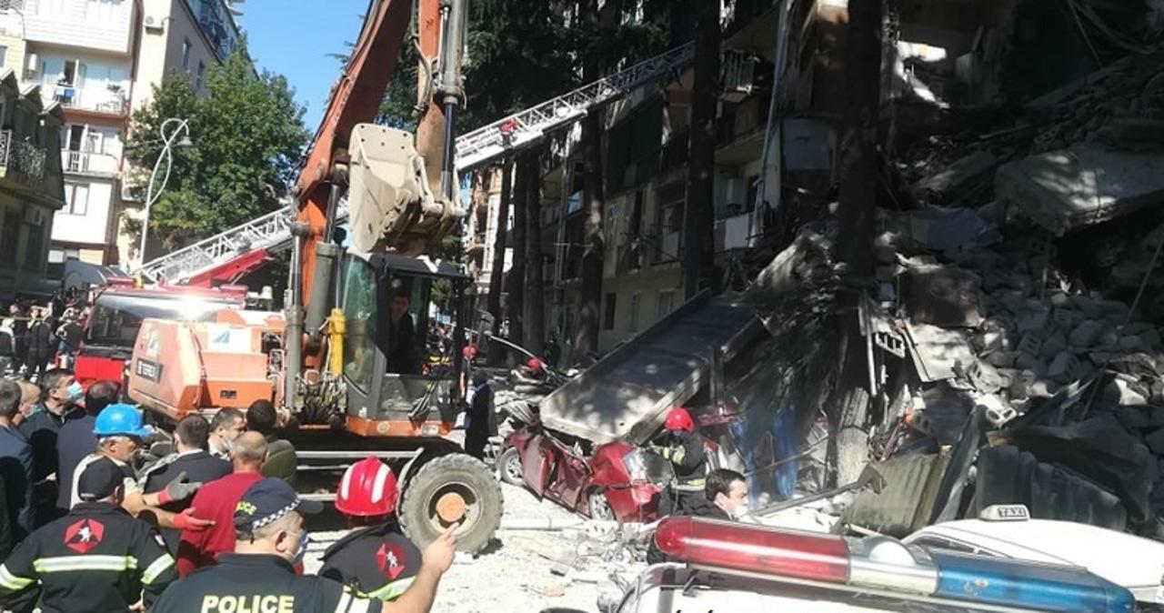 Zawalił się budynek mieszkalny w Batumi. Pod gruzami może być nawet 15 osób