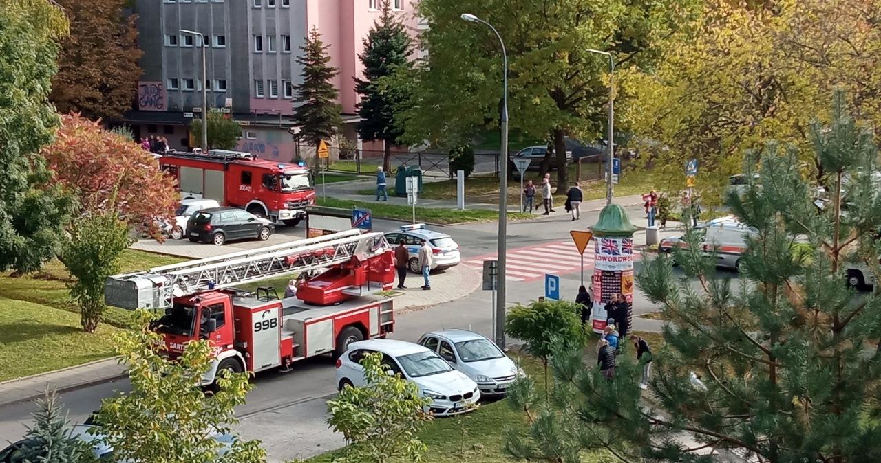 Kraków: Pożar w bloku przy ul. Wysłouchów, jedna osoba zginęła